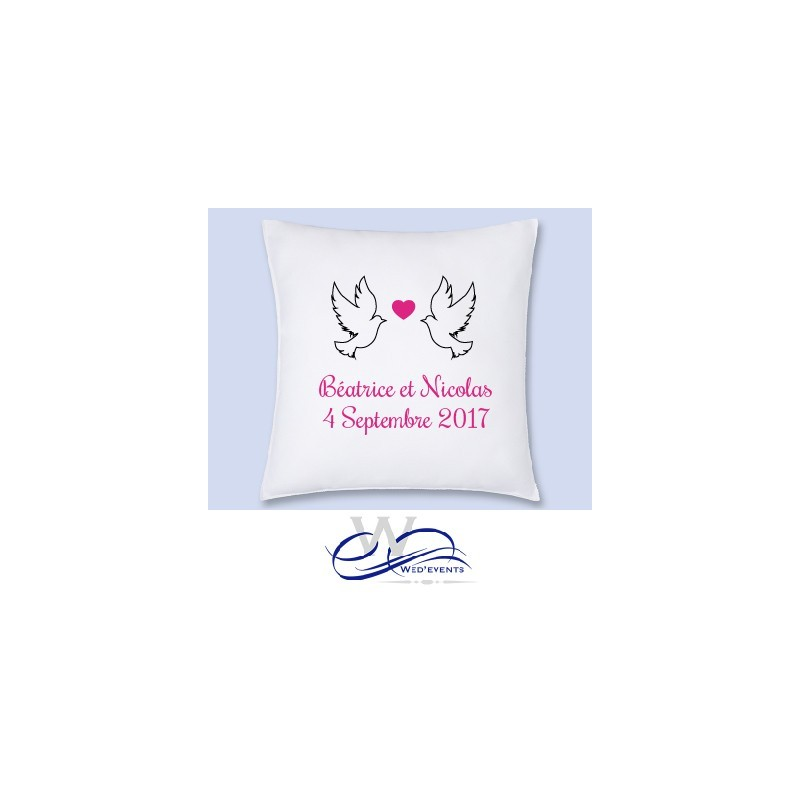 coussin personnalis cadeaux mariage wedevents. Black Bedroom Furniture Sets. Home Design Ideas