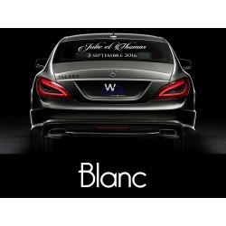 Décoration voiture mariage / stickers voiture blanc
