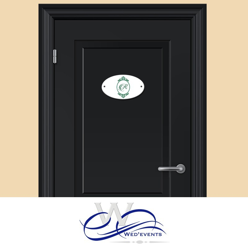 Plaque de porte chambre enfant et b b avec initiale du pr nom for Plaque de porte chambre enfant