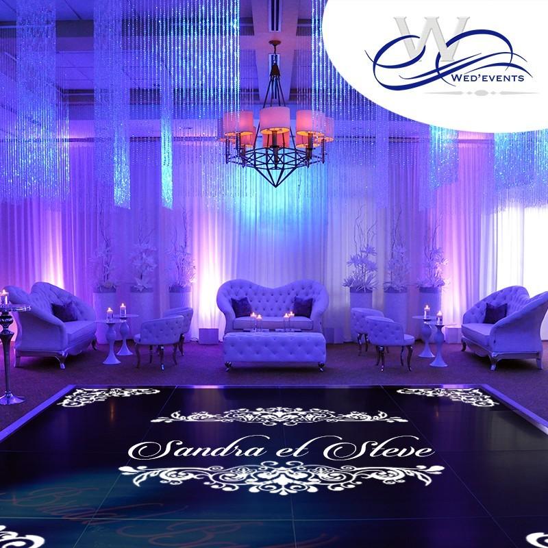 sticker de sol mariage pour personnaliser votre piste de danse. Black Bedroom Furniture Sets. Home Design Ideas