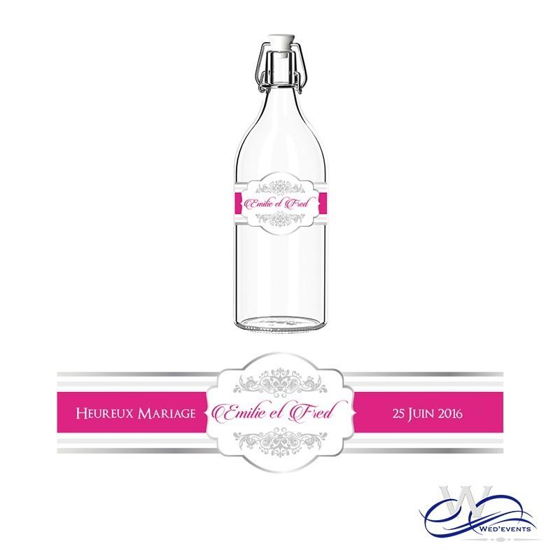 Extrêmement Autocollant pour bouteille personnalisée mariage DD89