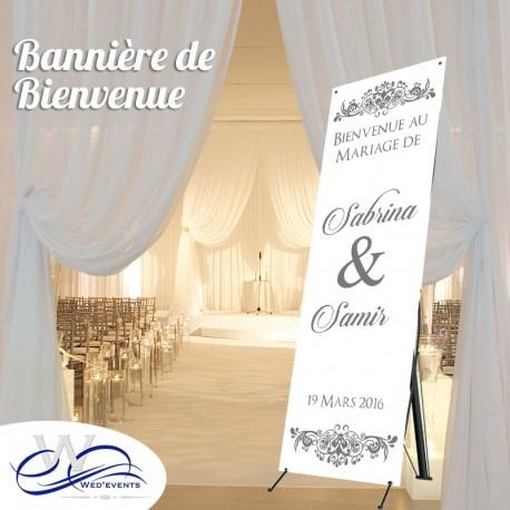 Bannière de bienvenue mariage
