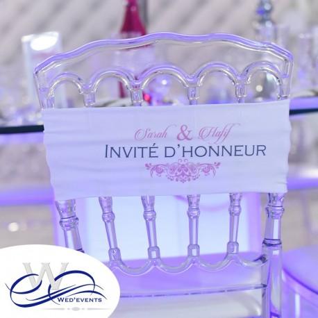 Bandeaux de chaise personnalisables mariage
