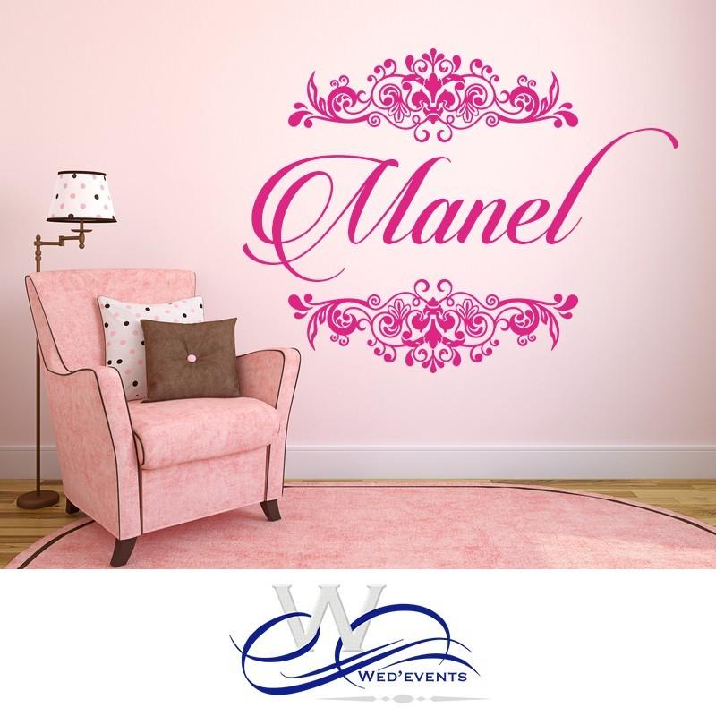 sticker mural personnalis id e d co chambre enfant. Black Bedroom Furniture Sets. Home Design Ideas