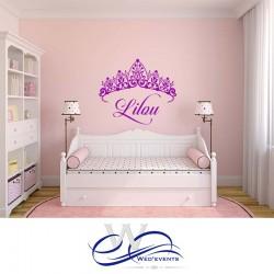 Stickers muraux personnalisés - Couronne princesse