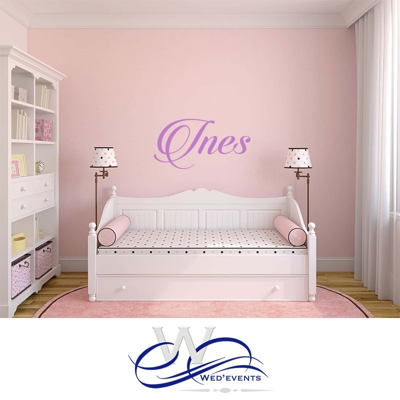 sticker mural personnalis avec le pr nom de votre enfant. Black Bedroom Furniture Sets. Home Design Ideas