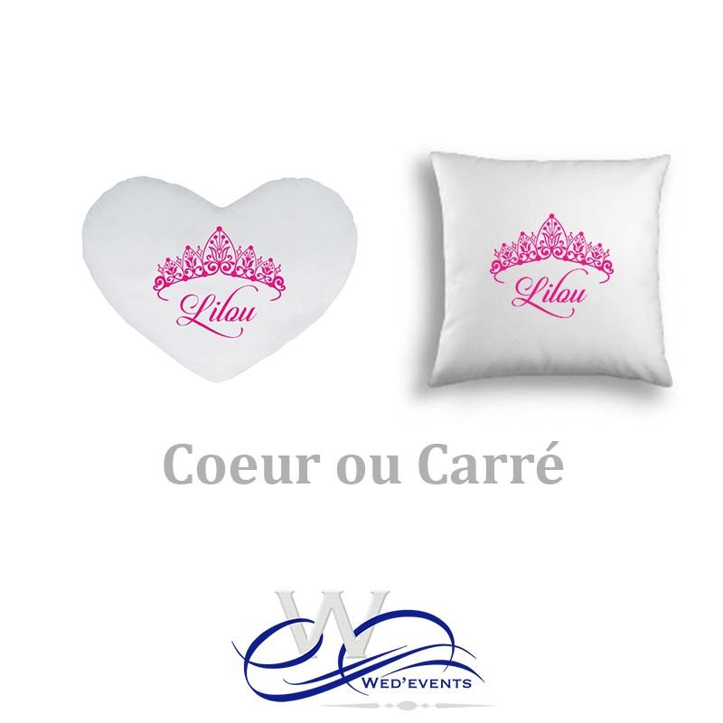 Personnalisé Nom Rose Couronne Coussin Imprimé Personnalisé Chambre Filles Cadeau
