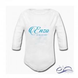 Body bébé personnalisé avec prénom et date