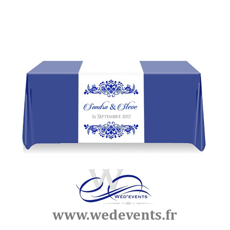 Chemin de table mariage personnalis for Chemin de table personnalise