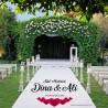 Sticker de sol pour piste de danse ou tapis d'allée just married coeur