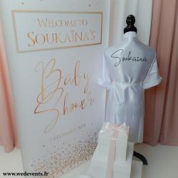 Bannière personnalisée Baby Shower