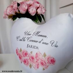 Coussin coeur prénom Maman