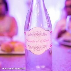 Autocollant pour bouteille personnalisé mariage