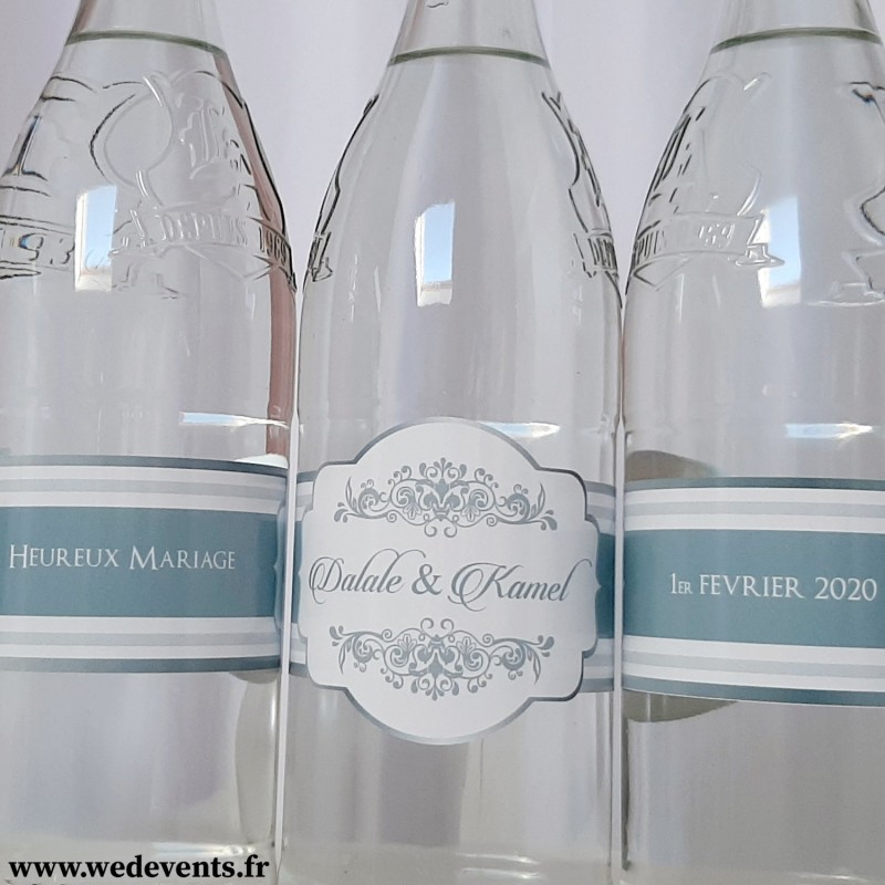 Boîte Déjeuner bouteilles d/'eau verre Personnalisé Nom Autocollant Vinyle Autocollant-mariage