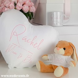 Peluche personnalisée Baby Girl lapin