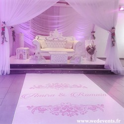 Sticker de sol personnalisé mariage - Royale