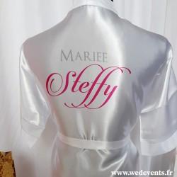 Peignoir mariée personnalisé avec prénom mariage