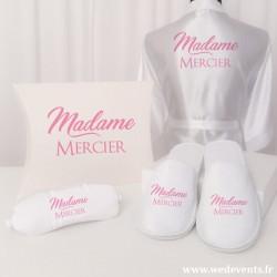 Coffret cadeau mariée personnalisé Madame