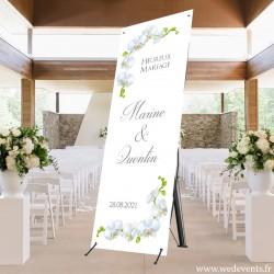Pancarte de bienvenue au mariage thème orchidées