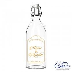 Etiquettes de bouteilles prénoms des mariés